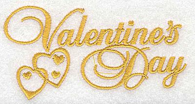 Embroidery Design: Valentine's Day 3.87w X 2.02h