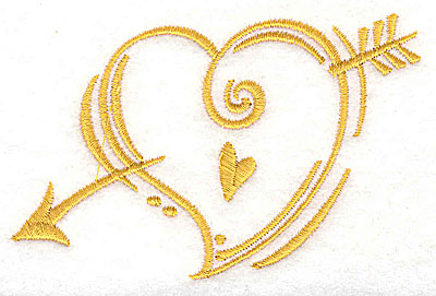 Embroidery Design: Heart with arrow 3.81w X 2.31h