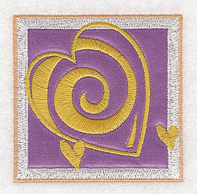 Embroidery Design: Valentine heart trio applique small 2.77w X 2.77h