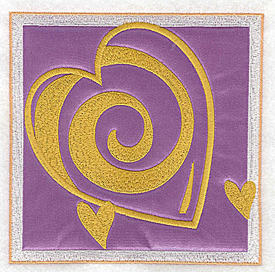 Embroidery Design: Valentine heart trio applique large 4.93w X 4.93h