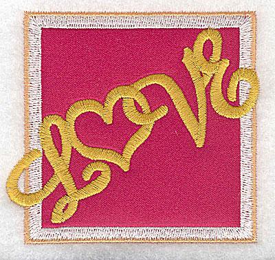 Embroidery Design: Love applique small 3.03w X 2.77h