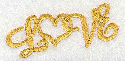 Embroidery Design: Love 3.29w X 1.63h