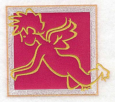 Embroidery Design: Valentine applique cupid small 3.54w X 3.13h