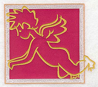 Embroidery Design: Valentine applique cupid large 4.98w X 4.39h
