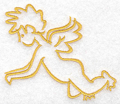 Embroidery Design: Cupid 3.47w X 2.89h