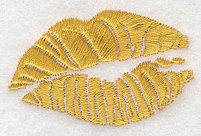 Embroidery Design: Kissing lips 2.41w X 1.51h