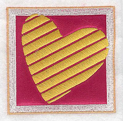 Embroidery Design: Valentine applique heart small 3.07w X 3.07h