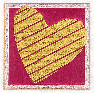 Embroidery Design: Valentine applique heart large 4.93w X 4.93h