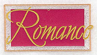 Embroidery Design: Valentine applique romance small 3.86w X 2.05h