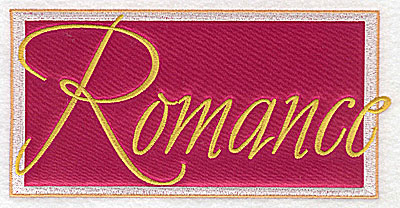 Embroidery Design: Valentine applique romance large  6.89w X 3.40h