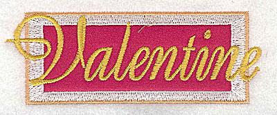 Embroidery Design: Valentine applique small 3.87w X 1.39h