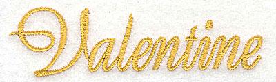 Embroidery Design: Valentine 3.87w X 1.09h
