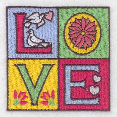 Embroidery Design: LOVE 3.45w X 3.45h
