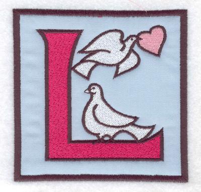 Embroidery Design: L applique 3.88w X 3.88h