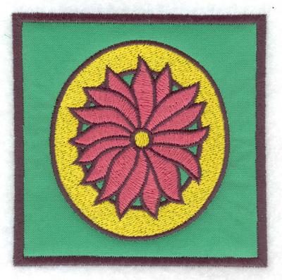 Embroidery Design: O applique 3.88w X 3.88h