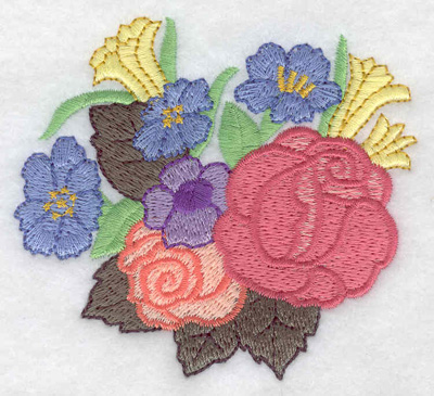Embroidery Design: Floral bouqet 3.51w X 3.19h