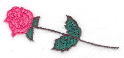 Embroidery Design: Single rose 3.59w X 1.57h