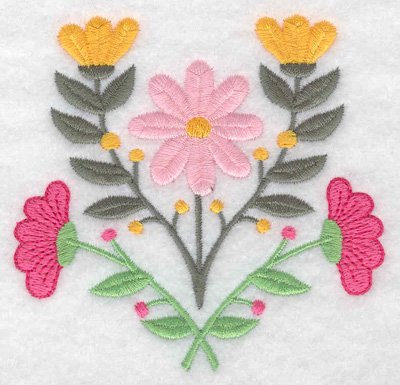 Embroidery Design: Flowers 3.67w X 3.56h