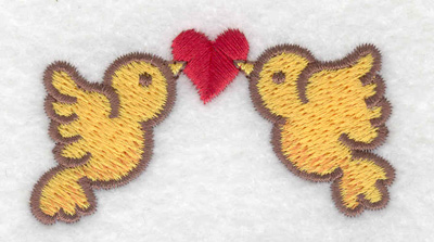 Embroidery Design: Love birds 2.52w X 1.40h