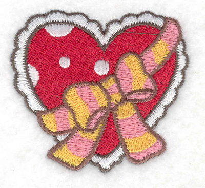 Embroidery Design: Heart with bow 2.52w X 2.31h