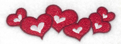 Embroidery Design: Hearts  3.89w X 1.33h