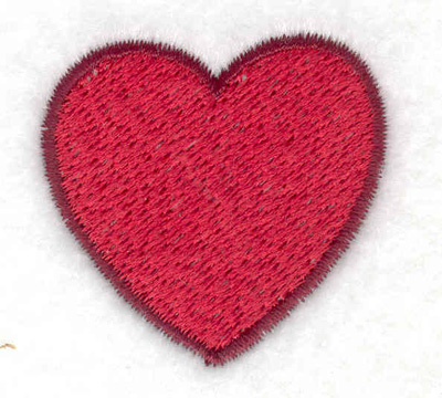 Embroidery Design: Heart 1.57w X 1.53h