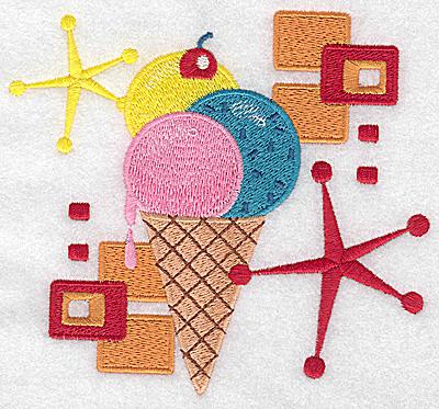 Embroidery Design: Ice Cream cone large 5.36w X 4.94h