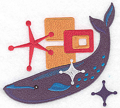 Embroidery Design: Whale large 5.45w X 4.91h