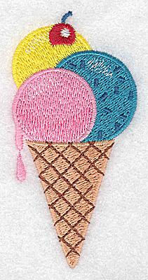 Embroidery Design: Ice Cream cone 1.89w X 3.88h