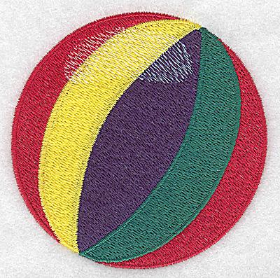 Embroidery Design: Beach Ball 3.52w X 3.50h