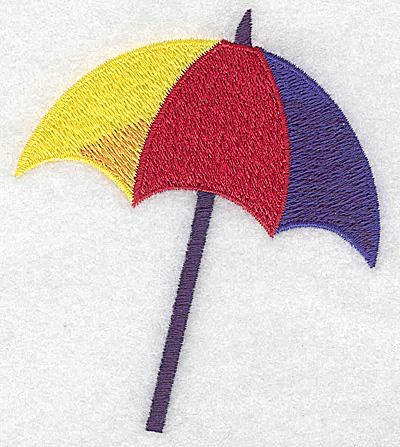 Embroidery Design: Beach Umbrella 3.30w X 3.85h