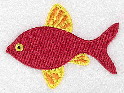 Embroidery Design: Fish 3.80w X 2.88h