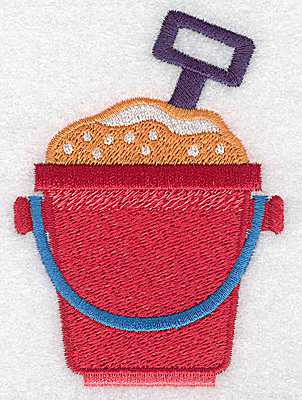 Embroidery Design: Beach pail and shovel 2.61w X 3.67h