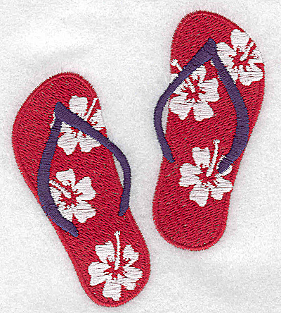 Embroidery Design: Flip-flops 3.42w X 3.81h