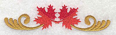 Embroidery Design: Victorian fall leaf design 3 3.86w X 0.99h