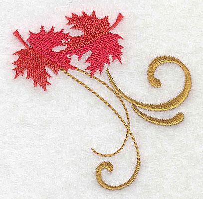 Embroidery Design: Victorian fall leaf design 4 2.60w X 2.64h
