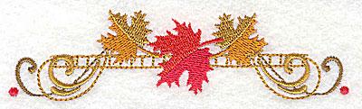 Embroidery Design: Victorian fall leaf design 5 4.93w X 1.33h