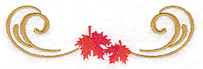 Embroidery Design: Victorian fall leaf design 7 4.58w X 1.45h