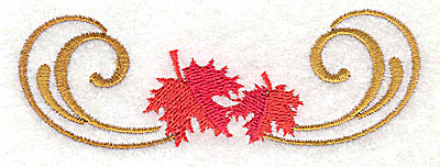 Embroidery Design: Victorian fall leaf design 8 3.82w X 1.30h