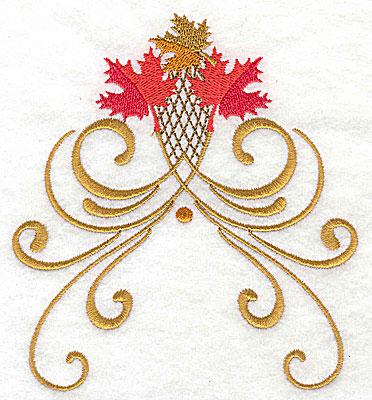 Embroidery Design: Victorian fall leaf design 13 4.50w X 4.93h
