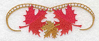 Embroidery Design: Victorian fall leaf design 15 3.85w X 1.57h