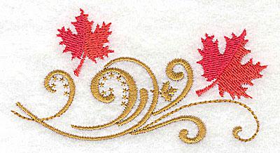 Embroidery Design: Victorian fall leaf design 17 3.78w X 2.04h