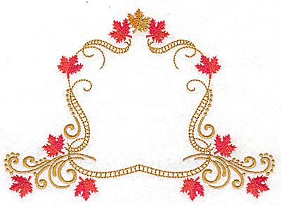Embroidery Design: Victorian fall leaf design 18 6.97w X 4.94h