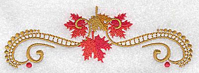 Embroidery Design: Victorian fall leaf design 19 4.97w X 1.64h