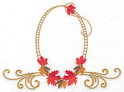 Embroidery Design: Victorian fall leaf design 20 6.88w X 4.98h