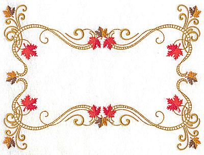 Embroidery Design: Victorian fall leaf design 21 9.56w X 7.08h