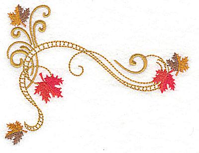 Embroidery Design: Victorian fall leaf design 22 4.99w X 3.83h