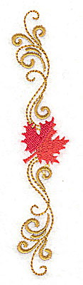 Embroidery Design: Victorian fall leaf design 23 1.04w X 4.97h