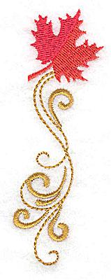 Embroidery Design: Victorian fall leaf design 24 1.31w X 3.79h