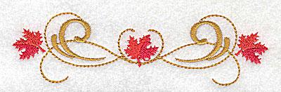 Embroidery Design: Victorian fall leaf design 25 4.98w X 1.39h